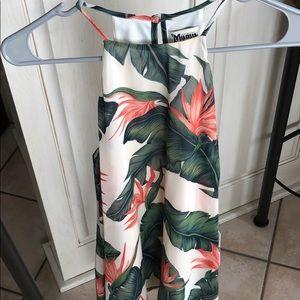 Show Me Your MuMu Leaf Printed Mini Dress!